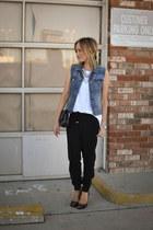 tank top Current Elliott shirt - Chanel bag - Forever 21 pants