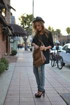 gray Forever 21 hat - blue Current Elliott jeans
