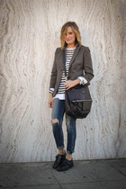 JCrew blazer - oxfords ASH shoes - citizens of humanity jeans
