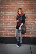 plaid Forever 21 scarf - skinny citizens of humanity jeans