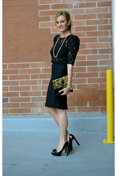Black Pencil Skirt JCrew Skirts, Black Lace Top Forever 21 Shirts ...