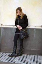 black Fiorentini  Baker boots - black H&M sweater - black Splendid leggings