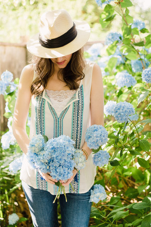 boho top Sanctuary Clothing blouse - Michael Stars hat