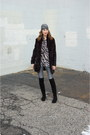 Black-suede-ivanka-trump-boots-black-faux-fur-lark-coat