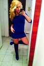 Blue-shoes-blue-dress-black-socks
