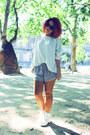 Aliexpress-boots-h-m-shorts-h-m-cardigan