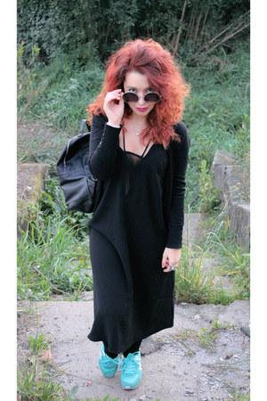 black H&M dress - black Primark bag - charcoal gray c&a sunglasses