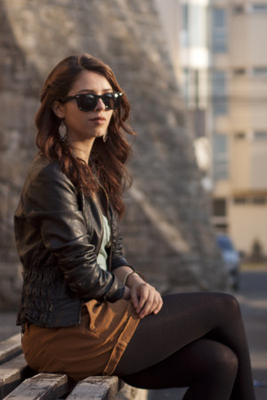 leather jacket Stradivarius jacket
