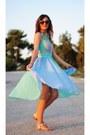 Sheinside-dress-aquamarine-accessories-persunmall-earrings-accessories