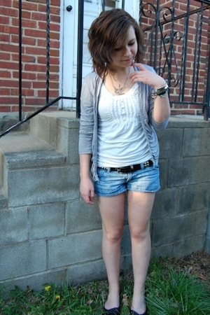 Guacamole sweater - forever 21 top - Hot Topic haha belt - Target shorts - journ