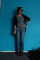 Forever 21 sweater - Forever 21 t-shirt - H&M jeans - Target shoes - various acc