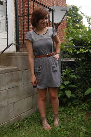 Billabong dress - thrifted belt - Dolce Vita shoes - Mom bracelet
