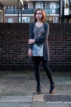 black Rachel Comey boots - black Forever 21 leggings - white vintage skirt