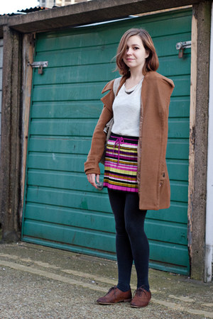 light brown modcloth coat - brown Topshop shoes