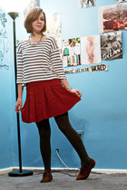 charcoal gray Target tights - brown oxford Topshop shoes