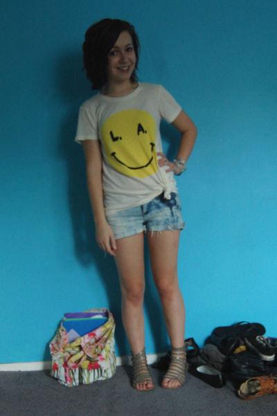 Wildfox t-shirt - DIY shorts - Amrita Signh bracelet - Dolce Vita shoes