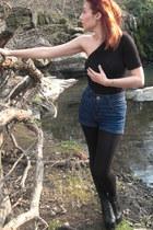 pull&bear shorts - Jeffrey Campbell boots - Zara skirt