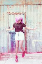 periwinkle zipped H&M skirt - black Party Glasses sunglasses