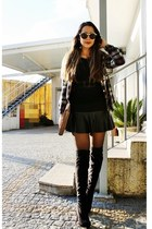 black milanoo boots - gold Zero UV glasses