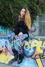Black-platform-zara-boots-sky-blue-mango-jacket-black-mesh-sheinside-sweater