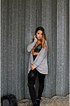 black Ebay hat - black disco pants Glamorous leggings - black Ebay sneakers