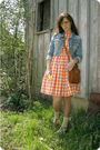 Orange-thrift-earrings-brown-a-friends-shoes-brown-thrift-purse