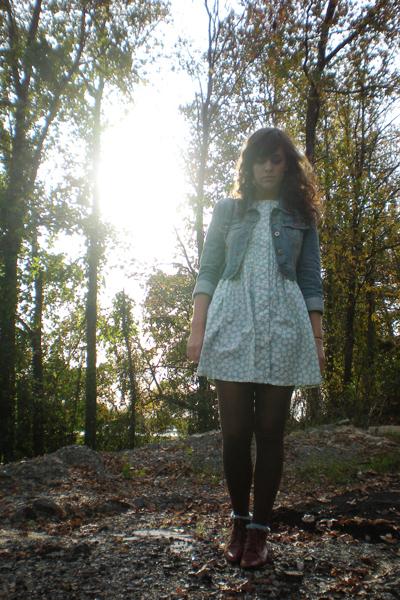 Old Navy jacket - dress - Target socks - Rue 21 tights - purse - shoes