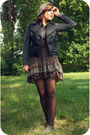 Black-collection-b-jacket-brown-f21-dress