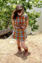 modcloth dress - modcloth belt - shoes