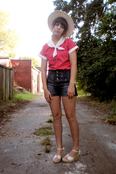 Levi Strauss shirt - hat - forever 21 shorts - shoes