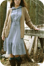 Blue-etsy-dress-beige-boyfriends-cardigan-brown-goodwill-boots-blue-thrif