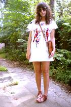 dress - kodak purse - Urban Outfitters shoes - sunglasses