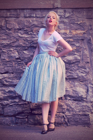 Sewn by me skirt - Urban Outfitters t-shirt - mary janes Agent Provocateur heels