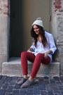 Hot-pink-oxfords-dolce-vita-shoes-beige-pom-beanie-calypso-st-barth-hat