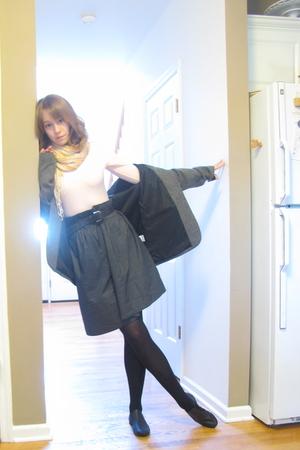 Capezio shirt - liz lange skirt - tights - Capezio shoes - belt - blazer