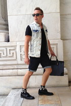 denim-leather united colors of benetton bag - brogues Kenn shoes - Zara jacket