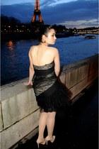 black BCBG dress - neutral Aldo heels