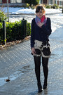 Black-aldo-boots-hot-pink-street-vendor-scarf-dark-khaki-club-monaco-shorts