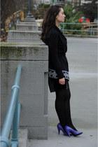 deep purple Rocket Dog shoes - magenta Jacob dress - black Lilka sweater - black