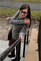 crimson BDG jeans - black Chanel glasses