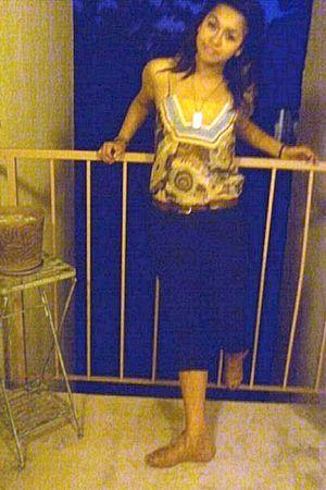 blue Forever 21 pants - gold shoes - brown shirt - belt