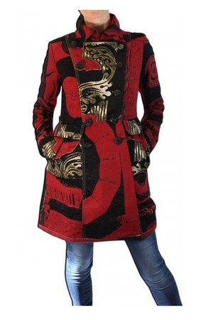 see below desigual coat
