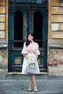Light-pink-h-m-sweater-white-midi-h-m-skirt