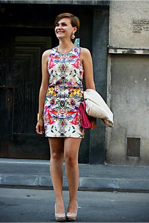 nude Zara shoes - white Primark dress