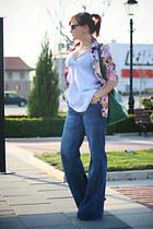 magenta floral print Primark shirt