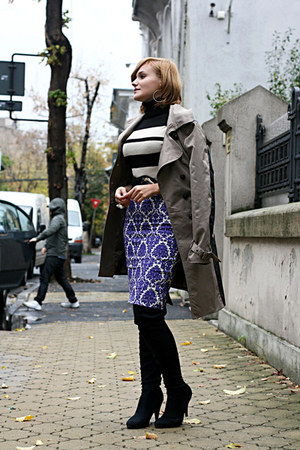 printed Primark skirt - boots