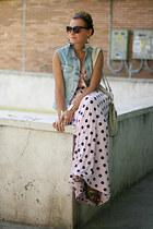 light pink polka dots no name skirt