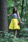 Hot-pink-zara-shoes-yellow-handmade-dress-red-apple-shaped-blanco-bag