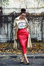 Red-leather-vintage-skirt