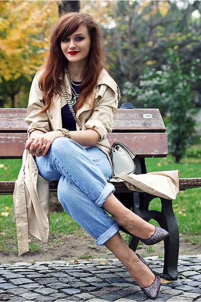 light blue vintage jeans